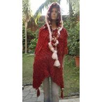 Poncho Capa Mujer Tejidos Artesanales De Diseños Exclusivos