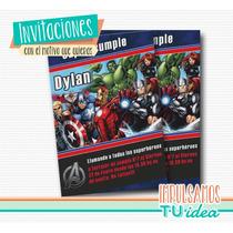 Los Vengadores - Invitación Para Imprimir