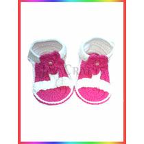 Sandalias Tejidas Crochet Para Bebes No Caminantes Jazcrafts