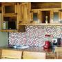 Amoblamiento De Cocina Rustico Bajo Mesada Y Alacena Alamo