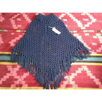 Poncho Artesanal Tejido A Crochet