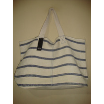 Prune Blaque Xl - Bolso Playero Prune Beige Azul Reversible