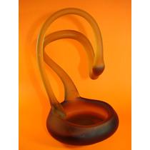 Escultura De Vidrio Soplado / Arte Moderno Europeo / Firmada