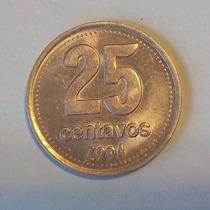 Argentina 25 Centavos 1994 Sin Circular Cj 4.3.3