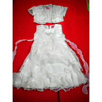 Vestido De Nena/con Torerito/importado Fiestas, Bautizo!!