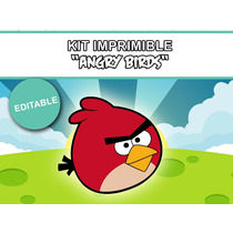 Kit Imprimible Editable Angry Birds, Golosinas Personalizada