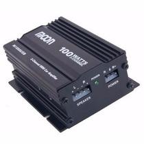 Mini Amplificador Moon M1050 100 Watts Con Usb P/ Moto Auto