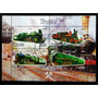 Malawi Trenes, Bloque 4 Sellos Locomotoras 12 Usado L7436