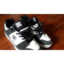 Zapatillas Dc Shoes Blanca Y Negra Talle 42 Impecables