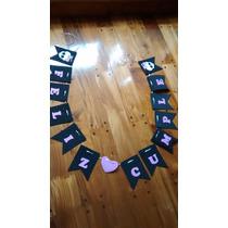 Banderines En Goma Eva - Personajes Y Feliz Cumple