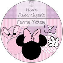 Kit Imprimible Personalizado + Candy Bar Minnie Mouse Compl