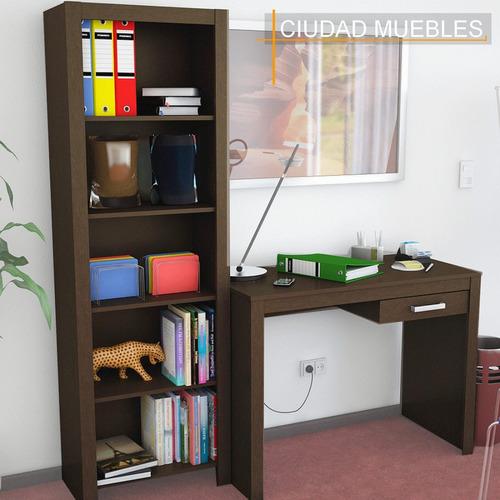 Increible Combo! Escritorio Con Cajon + Biblioteca Oferta!! (Mesas de