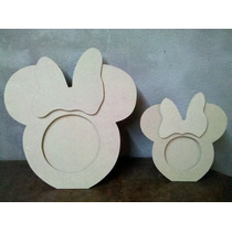 Portaretratos Mickey Minnie Souvenirs Fibro Facil P/ Pintar