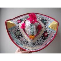 Sombrero Danza Caporal Bolivia Bordado Lentejuelas Borlas