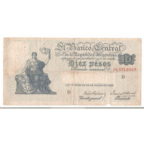 Bottero # 1881 - 10 Pesos M/n - Año 1939