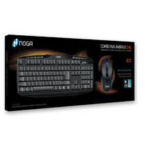 Kit Teclado Mouse Inalambrico Noga C25 Smart Tv Gtia Oferta
