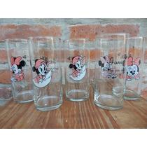 Vasos Souvenirs Personaliz Vidrio Mickey Minnie Bebe Kitty