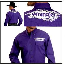 Camisa Vaquera De Rodeo Wrangler Original Importada Talle M