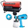Calefactor Portátil Gamma 30 A Gasoil + Equipo De Pintar 350