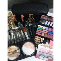Kit Set Maquillaje Paleta Sombras Máscara Rubores Pinceles