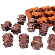 Molde De Silicona Bombones De Chocolate Robochoc