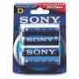 Pila D Grande Alcalina Sony Stamina Plus Blister X2 Unidades