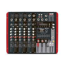 Consola Potenciada 8 Canales 2400w Usb Novik Nvk800p Fx Eq