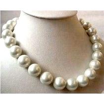 Collar Gargantilla Perlas Grandes. Blanco.