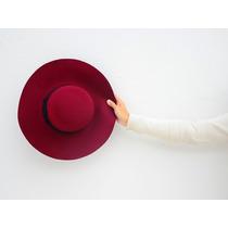 Sombrero Tipo Capelina Bordó