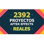 2392 Proyectos After Effects! Gran Variedad!! Envio Gratis!!