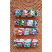 Pulseras De Madera Hello Kitty Y Princesas Personalizadas