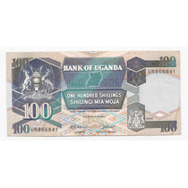 Uganda Billete De 100 Shillings Año 1988 P.31 !!