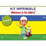 Kit Imprimible Editable Manny A La Obra, Golosinas Candybar
