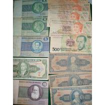 Lote De 16 Billetes Brasil Cruzeiro Novos Remarcados