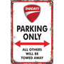 Carteles Antiguos Chapa 60x40cm Parking Only Ducati Pa-003