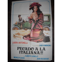 Afiche Cine Pecado A La Italiana Laura Antonelli Comedia