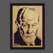 Cuadro Freud, Lacán, Dalí, Psicología, Buda Calado En Madera