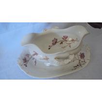 Antigua Salsera C/presentoire Porcelana Limoges