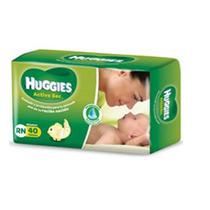 Huggies Active Sec Recien Nacido 40 Pañales