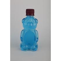 Botella En Forma De Oso Con Tapa Plastico 10x$