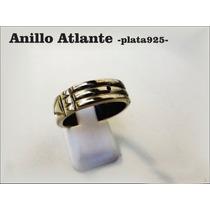 Anillo Atlante Artesanal Plata 925 Diseño Exclusivo 8mm