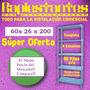Estanteria Metalica 60x26x200 30 Kilos Por Estante Reforzada