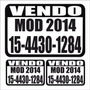 Plotter Sticker Calco Vinilo Cartel Vendo Auto X 1 Unidad