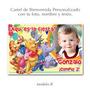 Whinnie The Pooh : Cartel De Cumpleaños Con Tu Foto Y Nombre
