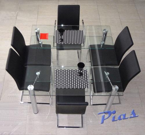 Mesa extensible vidrio templado 12 mm 126 x 126 a 176 x for Vidrio templado mesa