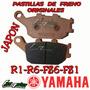 Pastillas Freno Yamaha R6-r1-fz6-fz1 Tras Original Fas Motos