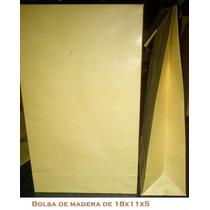 Bolsa De Papel Madera 18x11x5 Envíos A Capital Federal