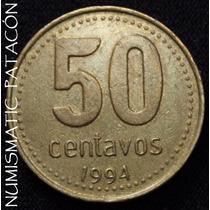 Argentina 50 Centavos 1994 (canto= 25 E/cm) - Muy Buena