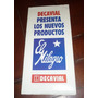 Antiguo Folleto Cal El Milagro Productos Decavial 1980's