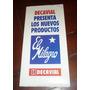 Antiguo Folleto Cal El Milagro Productos Decavial 1980